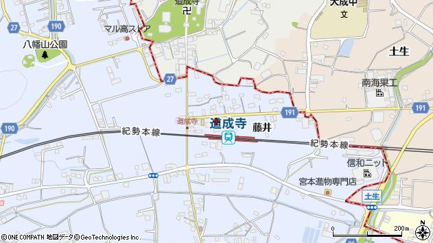 〒649-1341 和歌山県御坊市藤田町藤井の地図