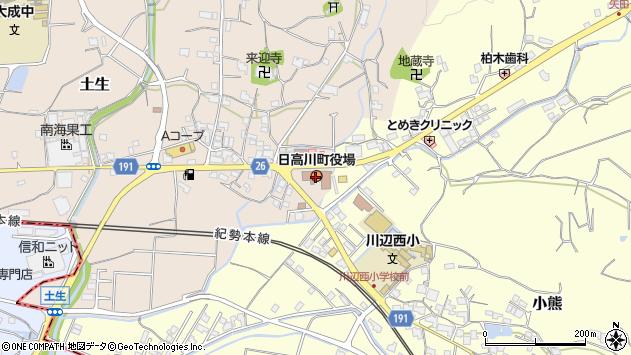 〒649-1300 和歌山県日高郡日高川町(以下に掲載がない場合)の地図