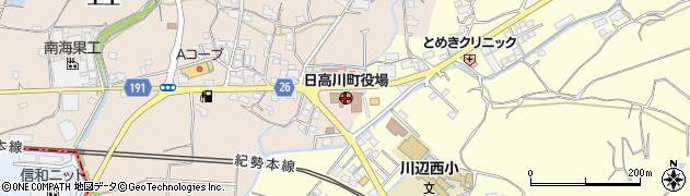 和歌山県日高川町(日高郡)周辺の地図