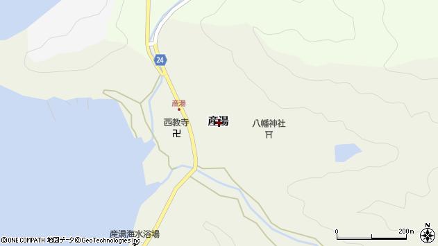 〒649-1233 和歌山県日高郡日高町産湯の地図