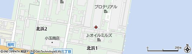 福岡県北九州市若松区北浜周辺の地図