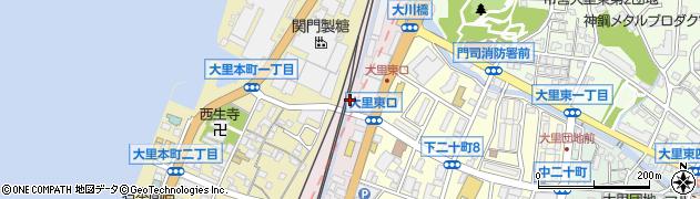 福岡県北九州市門司区大里東口周辺の地図