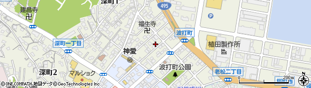 福岡県北九州市若松区波打町周辺の地図