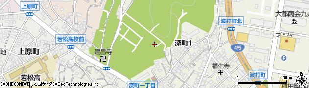 福岡県北九州市若松区深町周辺の地図