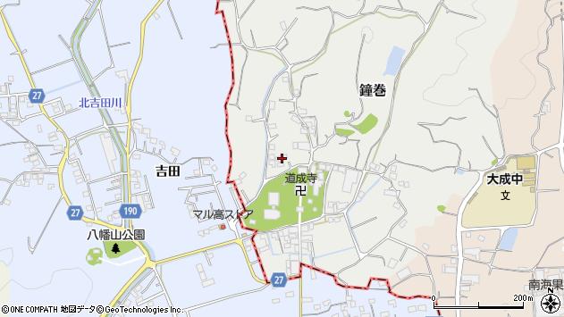 〒649-1331 和歌山県日高郡日高川町鐘巻の地図