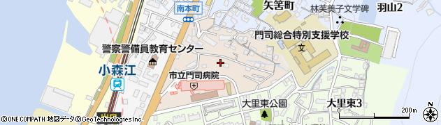 福岡県北九州市門司区南本町周辺の地図