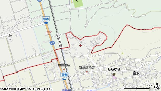 〒644-0015 和歌山県御坊市荊木の地図