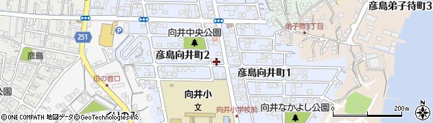 山口県下関市彦島向井町周辺の地図