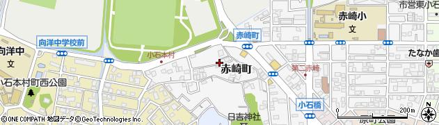 福岡県北九州市若松区赤崎町周辺の地図