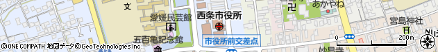 愛媛県西条市周辺の地図