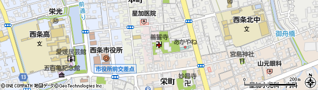 善誓寺周辺の地図