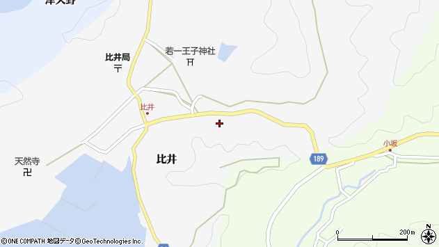 〒649-1234 和歌山県日高郡日高町比井の地図