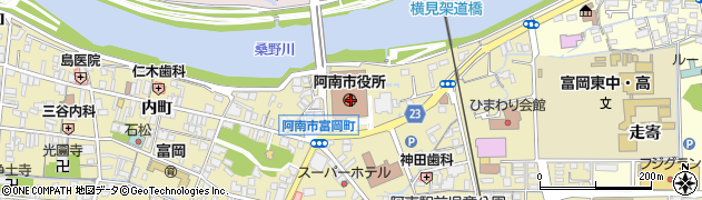 徳島県阿南市周辺の地図