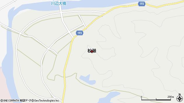 〒649-1444 和歌山県日高郡日高川町松瀬の地図