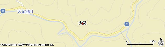 和歌山県日高川町(日高郡)大又周辺の地図