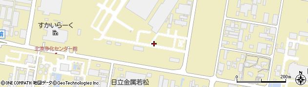 福岡県北九州市若松区安瀬周辺の地図