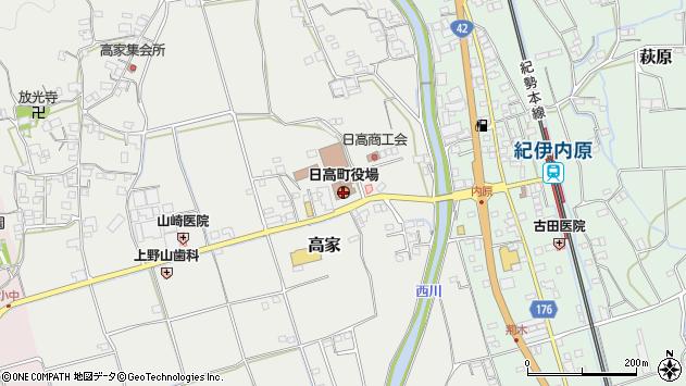〒649-1200 和歌山県日高郡日高町(以下に掲載がない場合)の地図