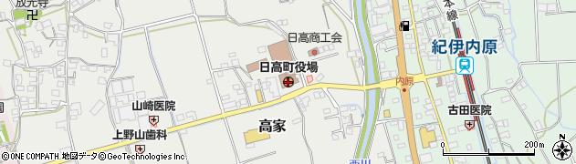 和歌山県日高郡日高町周辺の地図