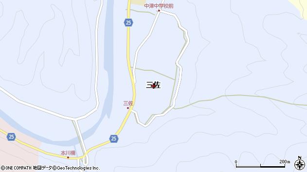 〒644-1152 和歌山県日高郡日高川町三佐の地図