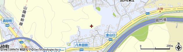 福岡県北九州市門司区黒川周辺の地図