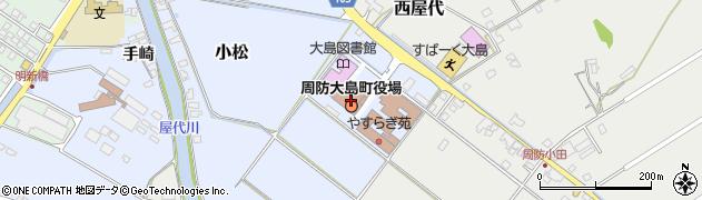 山口県周防大島町(大島郡)周辺の地図