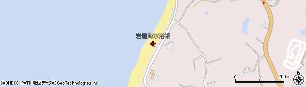 岩屋海水浴場周辺の地図