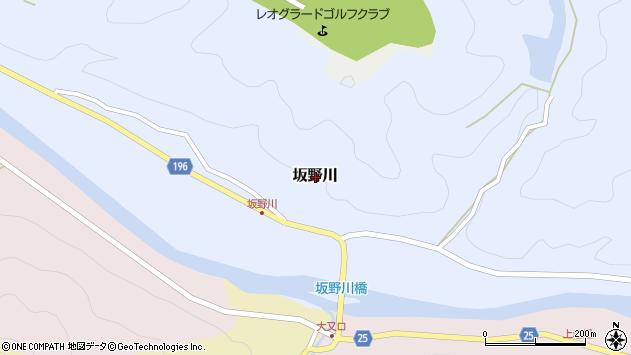 〒644-1161 和歌山県日高郡日高川町坂野川の地図