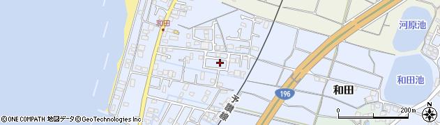 愛媛県松山市和田周辺の地図