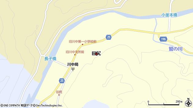 〒644-1151 和歌山県日高郡日高川町田尻の地図