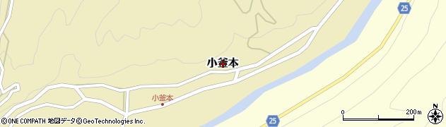 和歌山県日高川町(日高郡)小釜本周辺の地図
