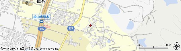 愛媛県松山市苞木周辺の地図