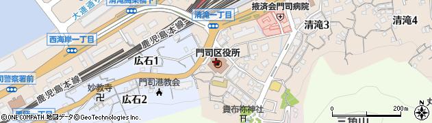 福岡県北九州市門司区周辺の地図