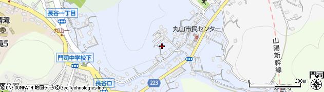 福岡県北九州市門司区長谷周辺の地図