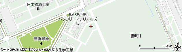 BASF戸田バッテリーマテリアルズ(合同会社)北九州事業所周辺の地図