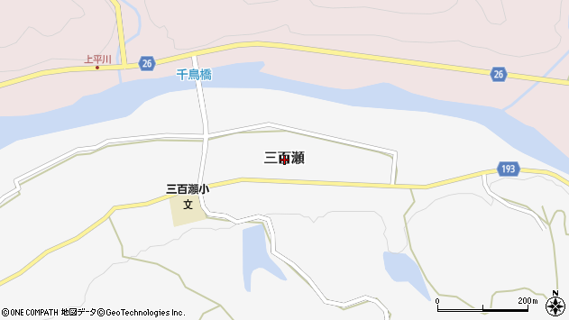〒649-1312 和歌山県日高郡日高川町三百瀬の地図