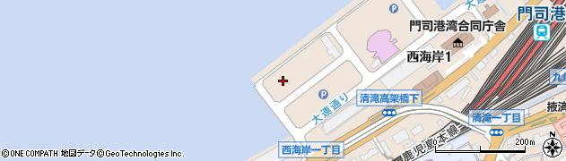 福岡県北九州市門司区西海岸周辺の地図