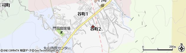 福岡県北九州市門司区谷町周辺の地図