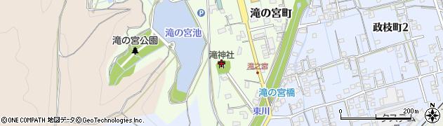 滝神社周辺の地図