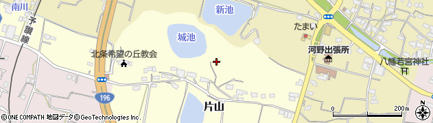 愛媛県松山市片山周辺の地図