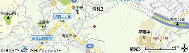 福岡県北九州市門司区清見周辺の地図