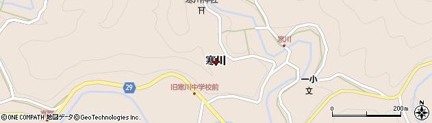和歌山県日高川町(日高郡)寒川周辺の地図