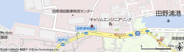 福岡県北九州市門司区田野浦海岸周辺の地図