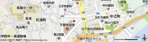 山口県下関市周辺の地図