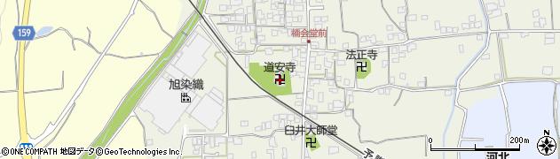 道安寺周辺の地図