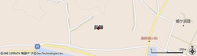 愛媛県松山市長師周辺の地図