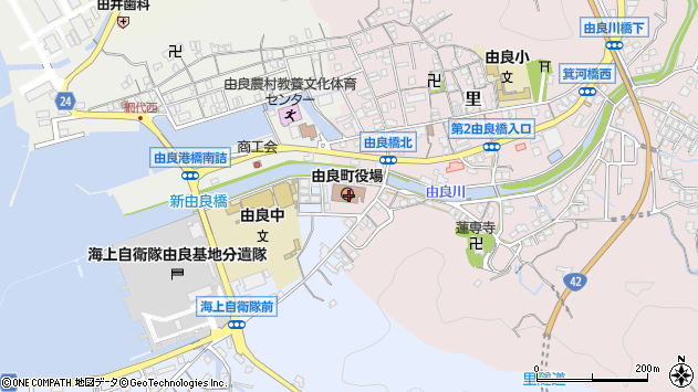 〒649-1100 和歌山県日高郡由良町(以下に掲載がない場合)の地図