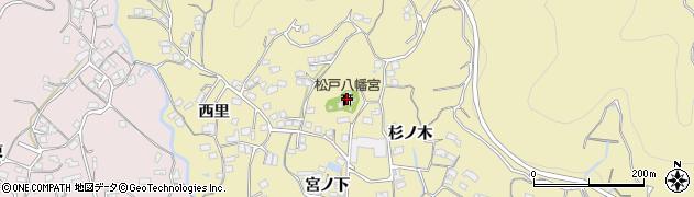 松戸八幡宮周辺の地図