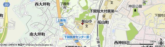 山口県下関市上新地町周辺の地図