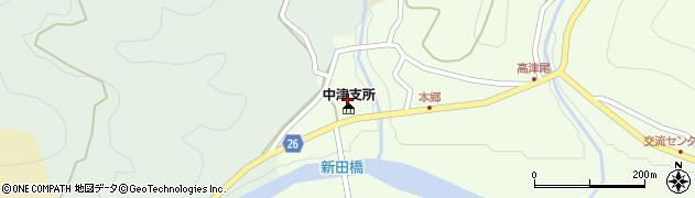日高川町中津支所周辺の地図