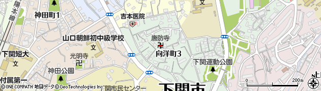 唐防寺周辺の地図